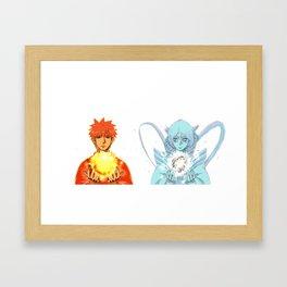 Sun x Moon Framed Art Print