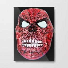 Spidey Skull Metal Print