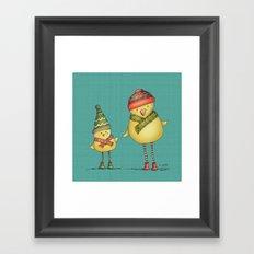 Two Chicks Framed Art Print