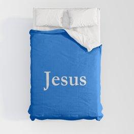 Jesus 6 blue Comforters