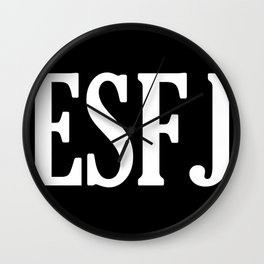 ESFJ Personality Type Wall Clock