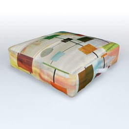 Mid-Century Modern Art 1.3 -  Graffiti Style Outdoor Floor Cushion