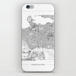 Vancouver Map 2 iPhone Skin