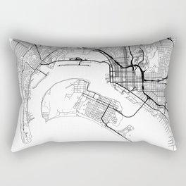 San Diego Map White Rectangular Pillow