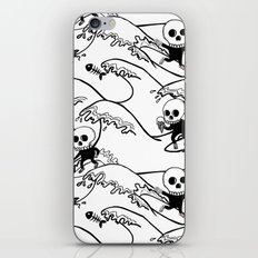 surferSkeleton iPhone & iPod Skin