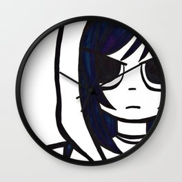 Ramona Flowers Wall Clock