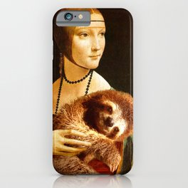 Lady With A Sloth iPhone Case