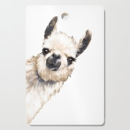 Sneaky Llama White Cutting Board