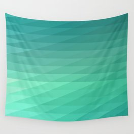 Fig. 043 Mint Green Geometric Diagonal Stripes Wall Tapestry