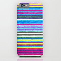 Yellow Stripes iPhone 6s Slim Case