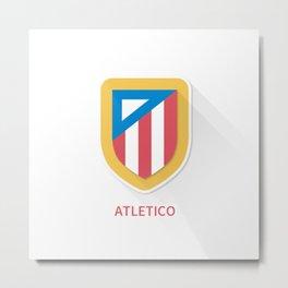 Atletico Madrid Smooth Logo Metal Print