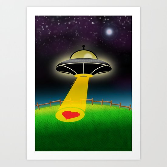 Love Abduction Art Print