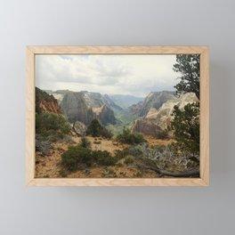 Above Zion Canyon Framed Mini Art Print