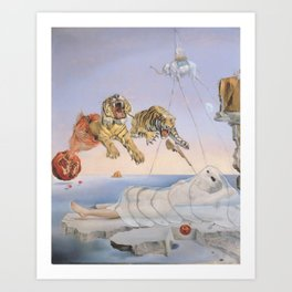 """""""Ghost with Tigers"""" / Salvador Dali Art Print"""