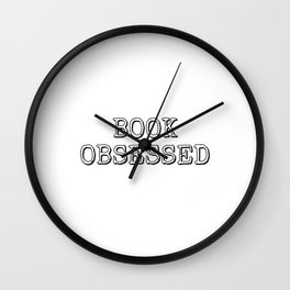 Book Obsessed typewriter Wall Clock