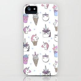 magical unicorn foods cakes cupcakes icecream cones with unicorns iPhone Case
