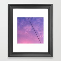 Sunset Clouds Framed Art Print