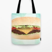 hamburger Tote Bags featuring Hamburger by Tyler Keff Beasley