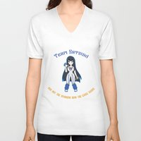 workout V-neck T-shirts featuring Satsuki Workout by LadyInverse