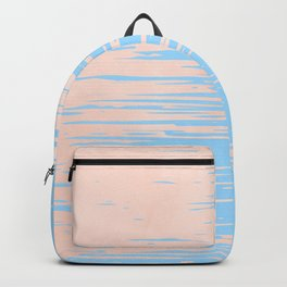 Carefree - Sweet Peach Coral Pink on Blue Raspberry Backpack