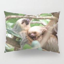 Yawning Baby Sloth - Cahuita Costa Rica Pillow Sham