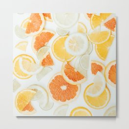 citrus fresh orange twist Metal Print