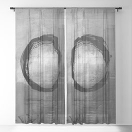 Enso No.MM13J by Kathy Morton Stanion Sheer Curtain