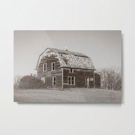 Barn House, Wells County, North Dakota 9 Metal Print