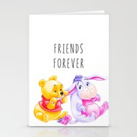 eeyore Stationery Cards featuring Friends Forever by Janice Wong