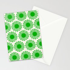 vintage flowers green Stationery Cards