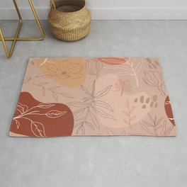 Pink Abstract Desert Pattern Rug