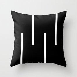 Black & White Retro Stripes Throw Pillow