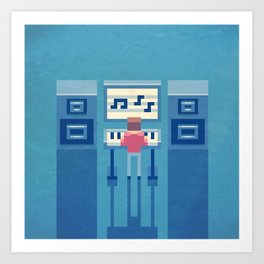 The electronic musician Art Print