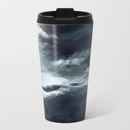 White mountains Metal Travel Mug
