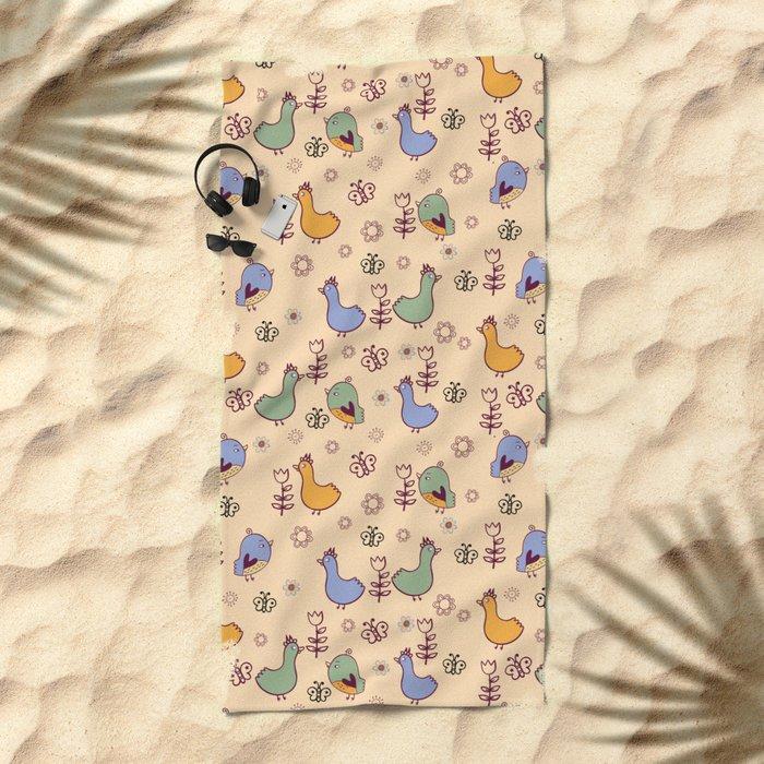 Cute Pattern #3 Beach Towel