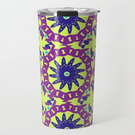 Chained Link Purple Spiral Flowers Travel Mug