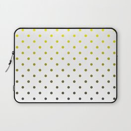 Gray and yellow dots Laptop Sleeve
