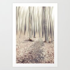 walking through the last days of autumn Art Print