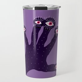 Weird Hand With Watching Eyes Travel Mug