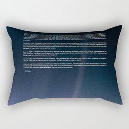 Pale Blue Dot — Voyager 1 (2020 rev.), quote Rectangular Pillow