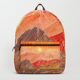 Lines in the mountains XXIV Backpack