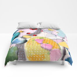 Pink Cactus Mexico Lindo Comforters