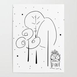 Magical Forest Illustration Poster