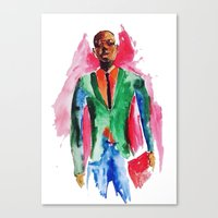 the dude Canvas Prints featuring Dude by Anastasiya  Tcapko