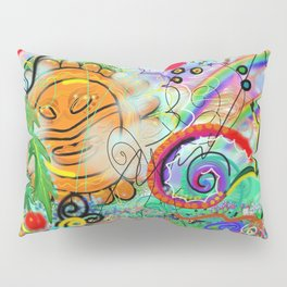 Taino Echoes - Puerto Rico Tribal Ethnic Art Pillow Sham