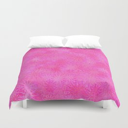 Cotton Candy Winter Festive Abstract Duvet Cover