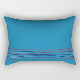 Multi Colored Scribble Line Design Bottom V8 Rustoleum 2021 Color of the Year Satin Paprika & Accent Rectangular Pillow