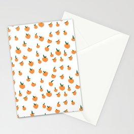 Orange Peaches Stationery Cards