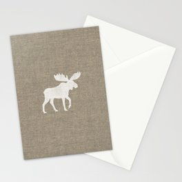 White Moose Silhouette Stationery Cards