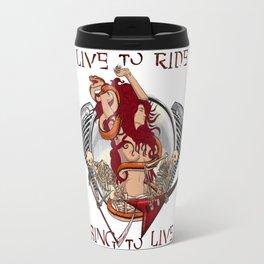 Live to ride, sing to live Travel Mug